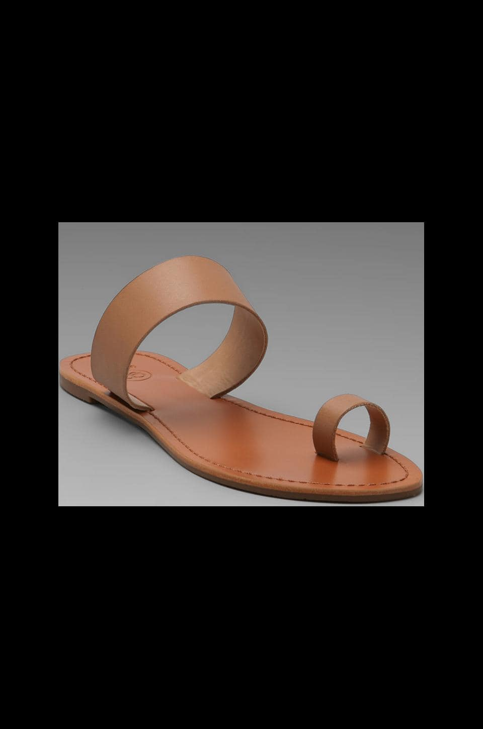 gorjana Del Mar Leather Sandal in Macaroon