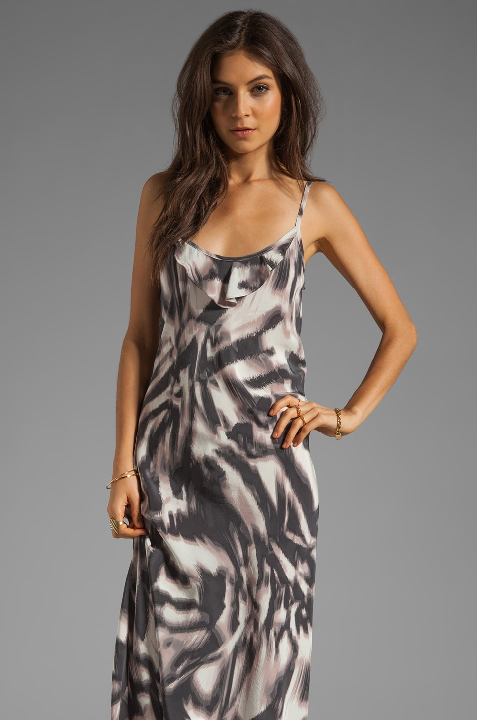 Graham & Spencer Abstract Zebra Print Tank Dress in Multi