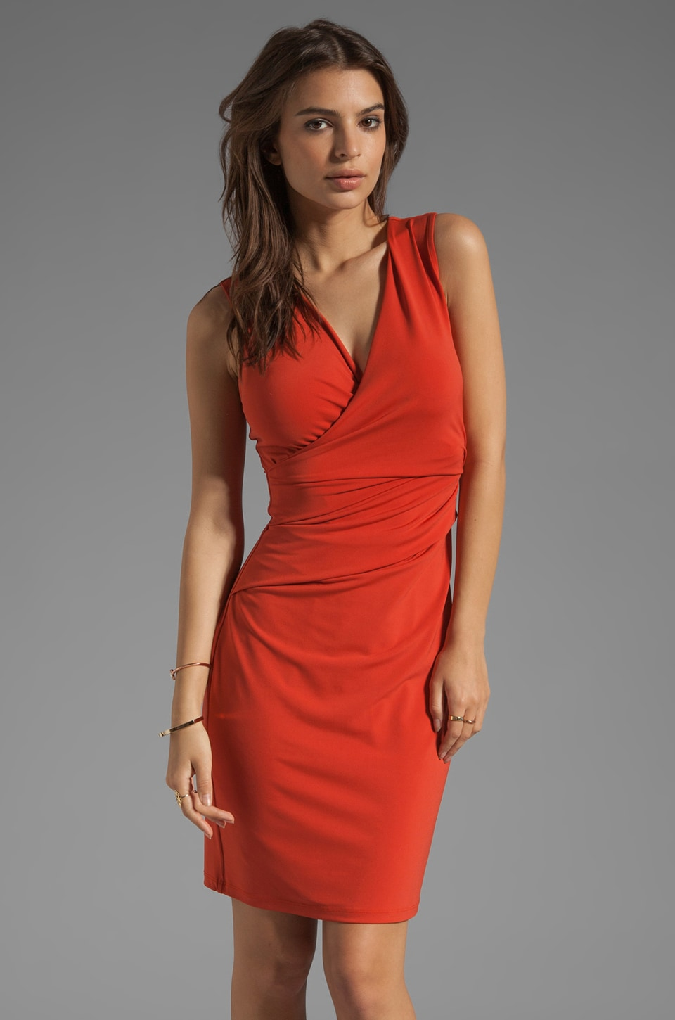 Graham & Spencer Stretch Jersey Tank Dress in Tangier