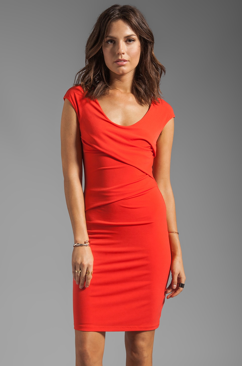 Graham & Spencer V-Neck Tank Dress in Crimson