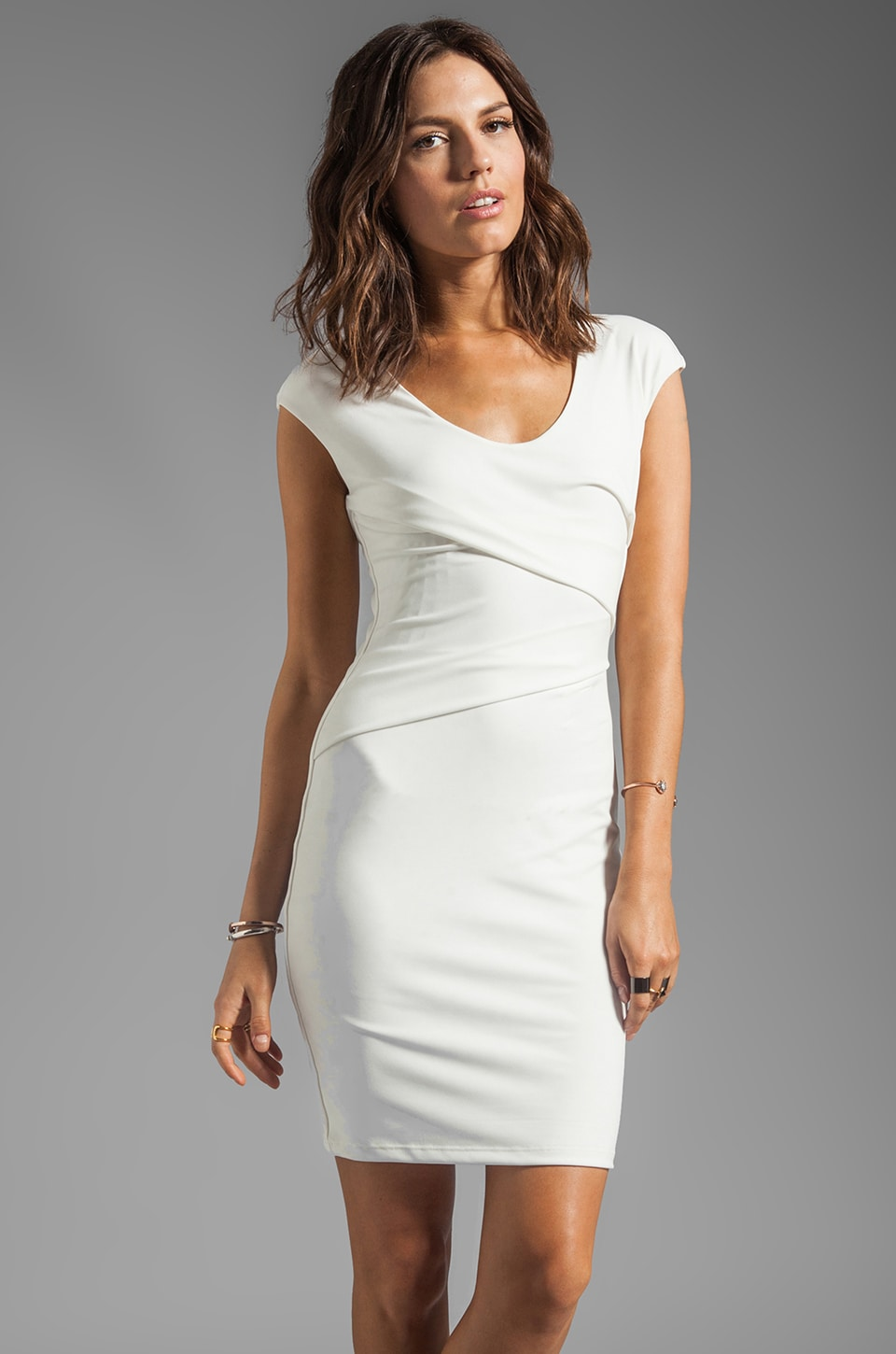 Graham & Spencer V-Neck Tank Dress in White