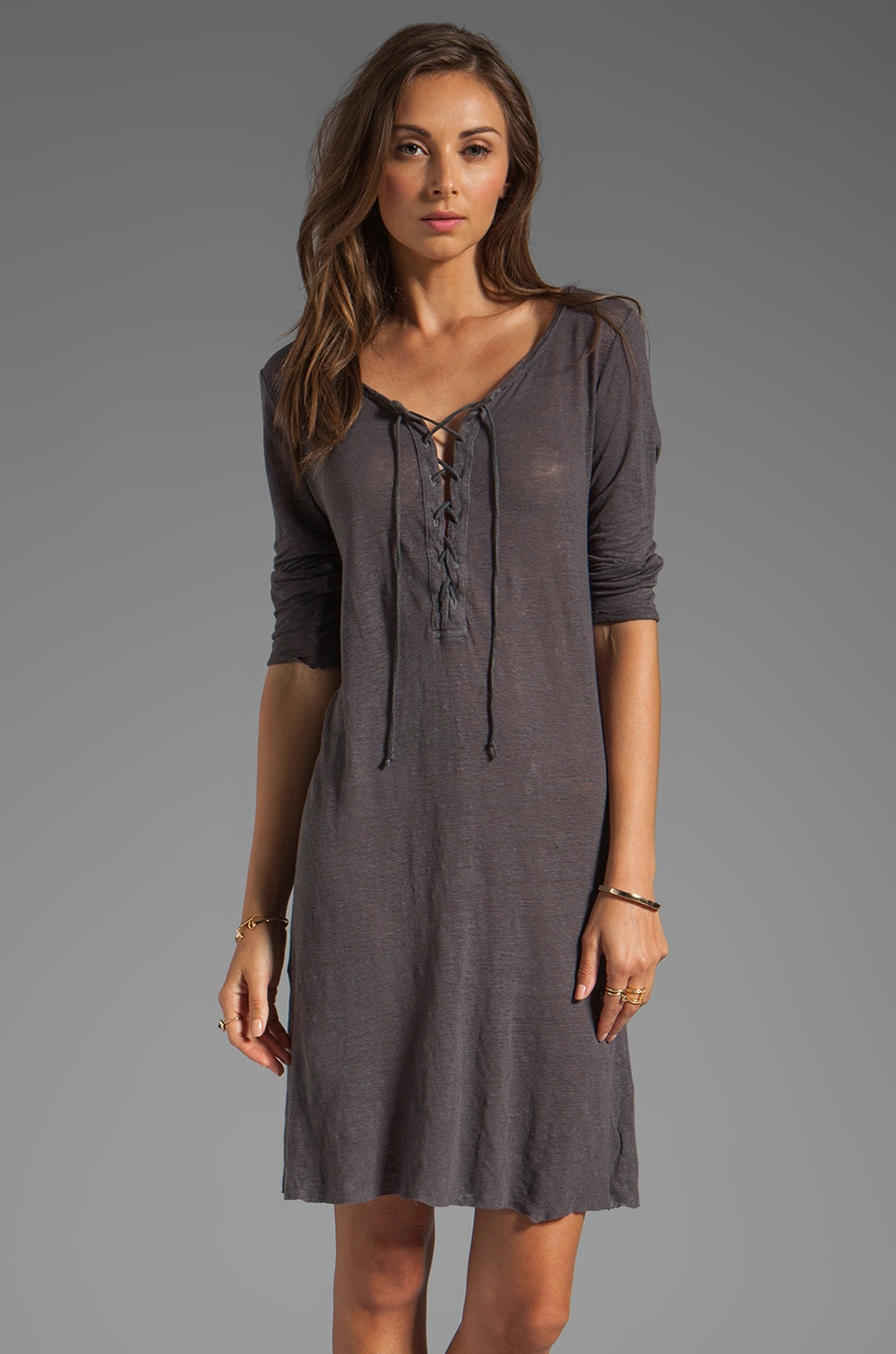 Graham & Spencer Linen Knit Dress in Cannon