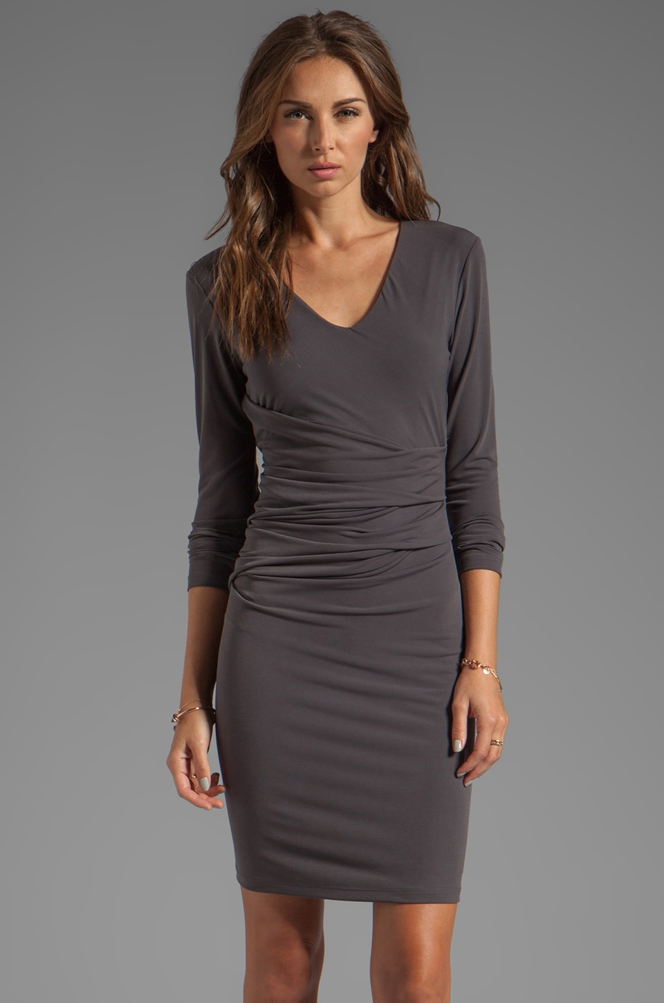 Graham & Spencer Stretch Jersey Dress in Charcoal