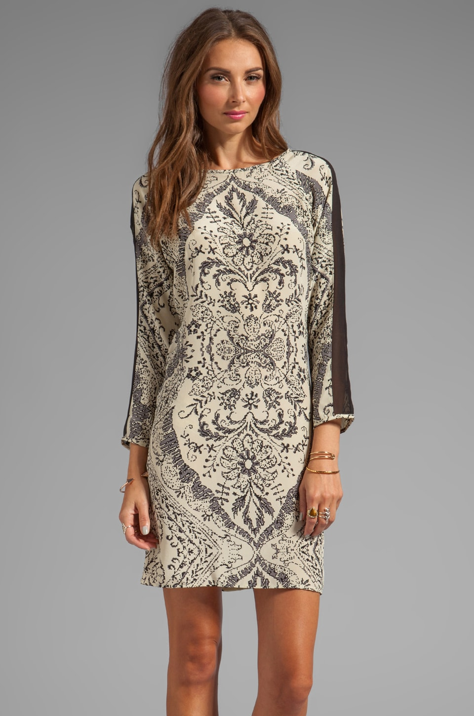 Graham & Spencer Handkerchief Print Dress in Multi