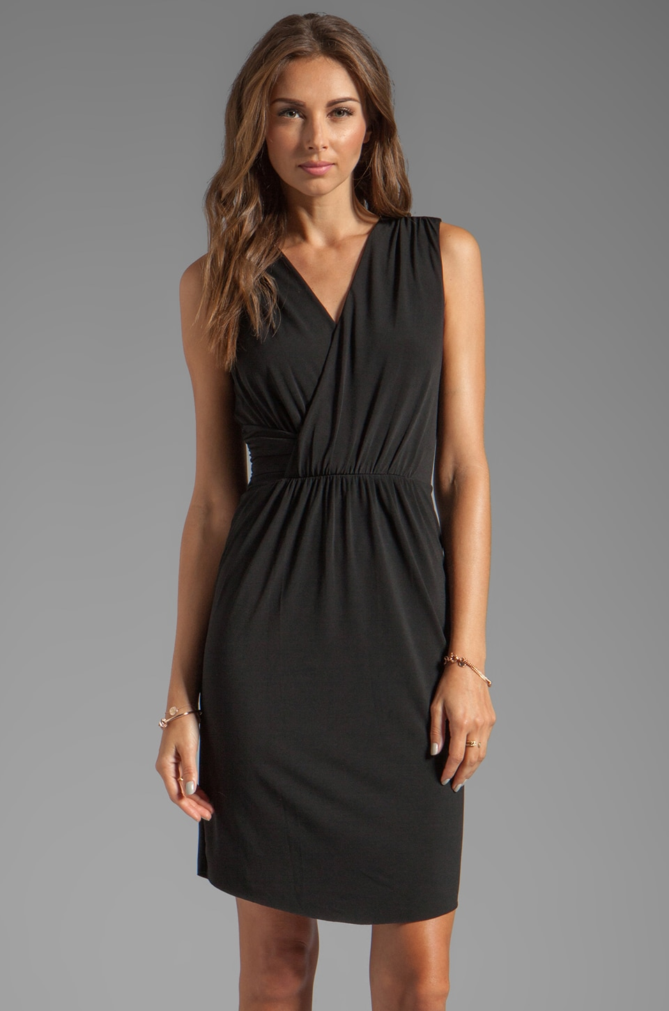 Graham & Spencer Stretch Jersey Dress en Noir