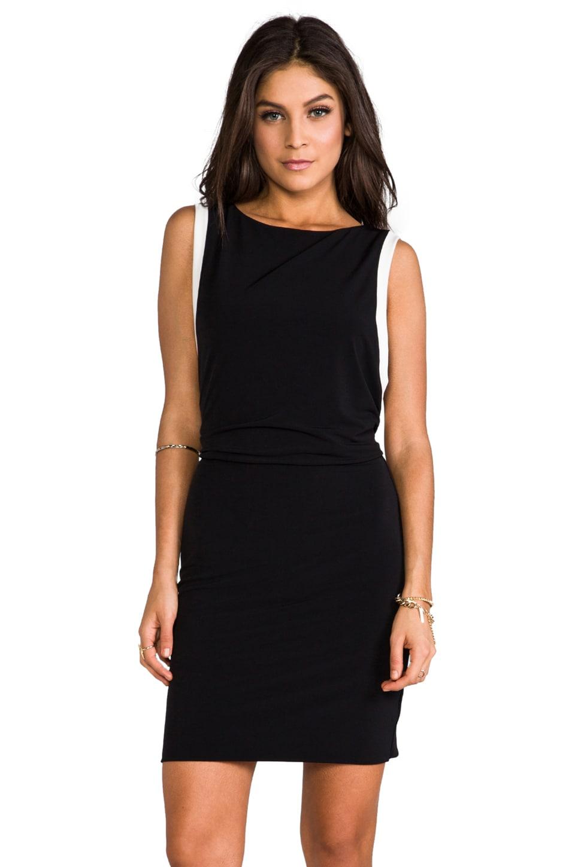 Graham & Spencer Stretch Jersey Dress in Black/White