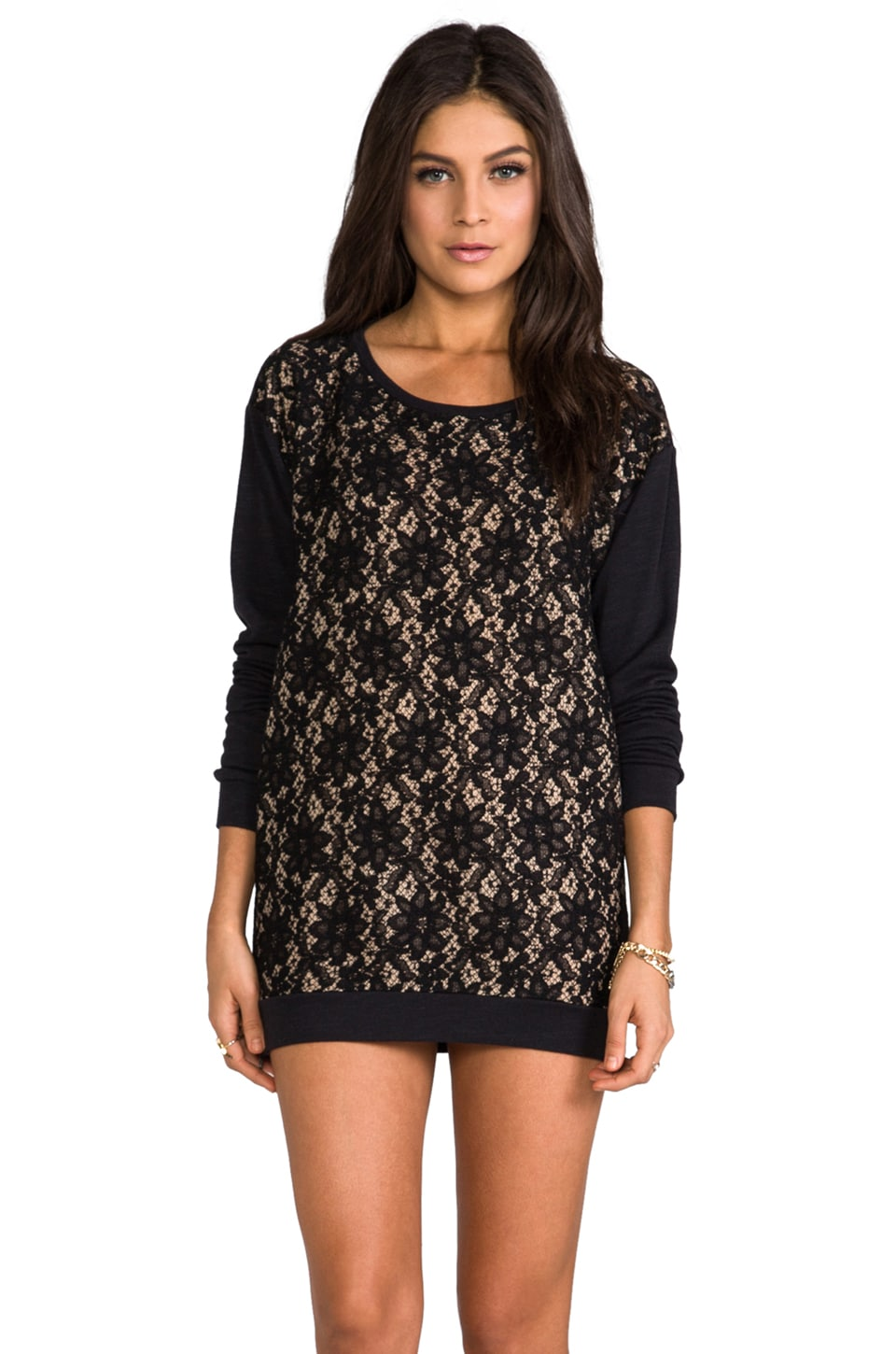 Graham & Spencer Ponti Lace Pullover in Multi