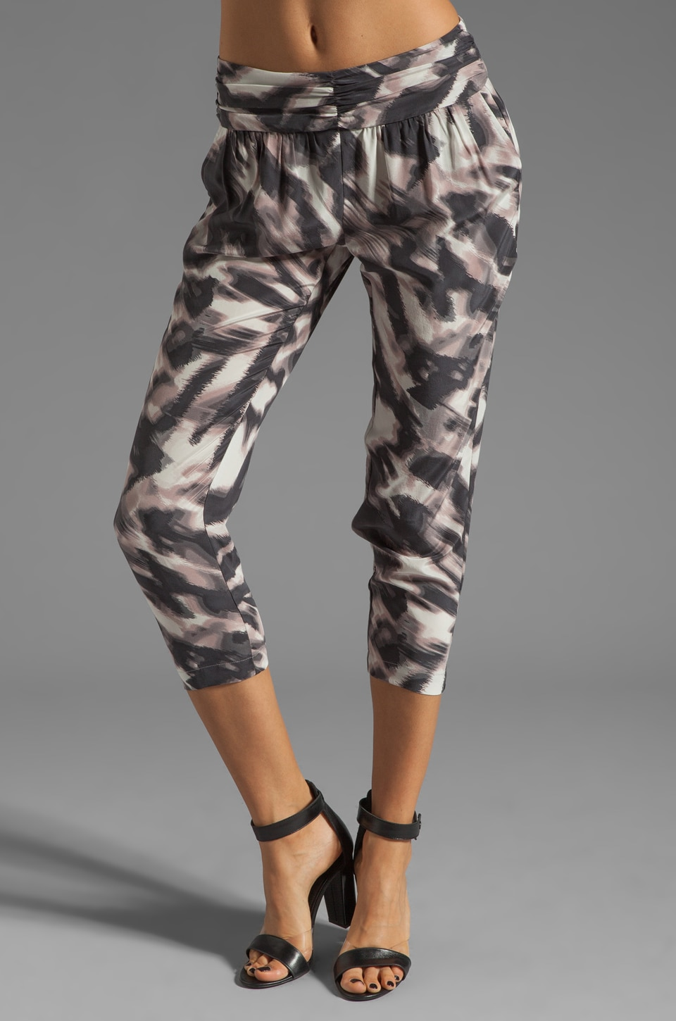 Graham & Spencer Abstract Zebra Print Pants in Multi