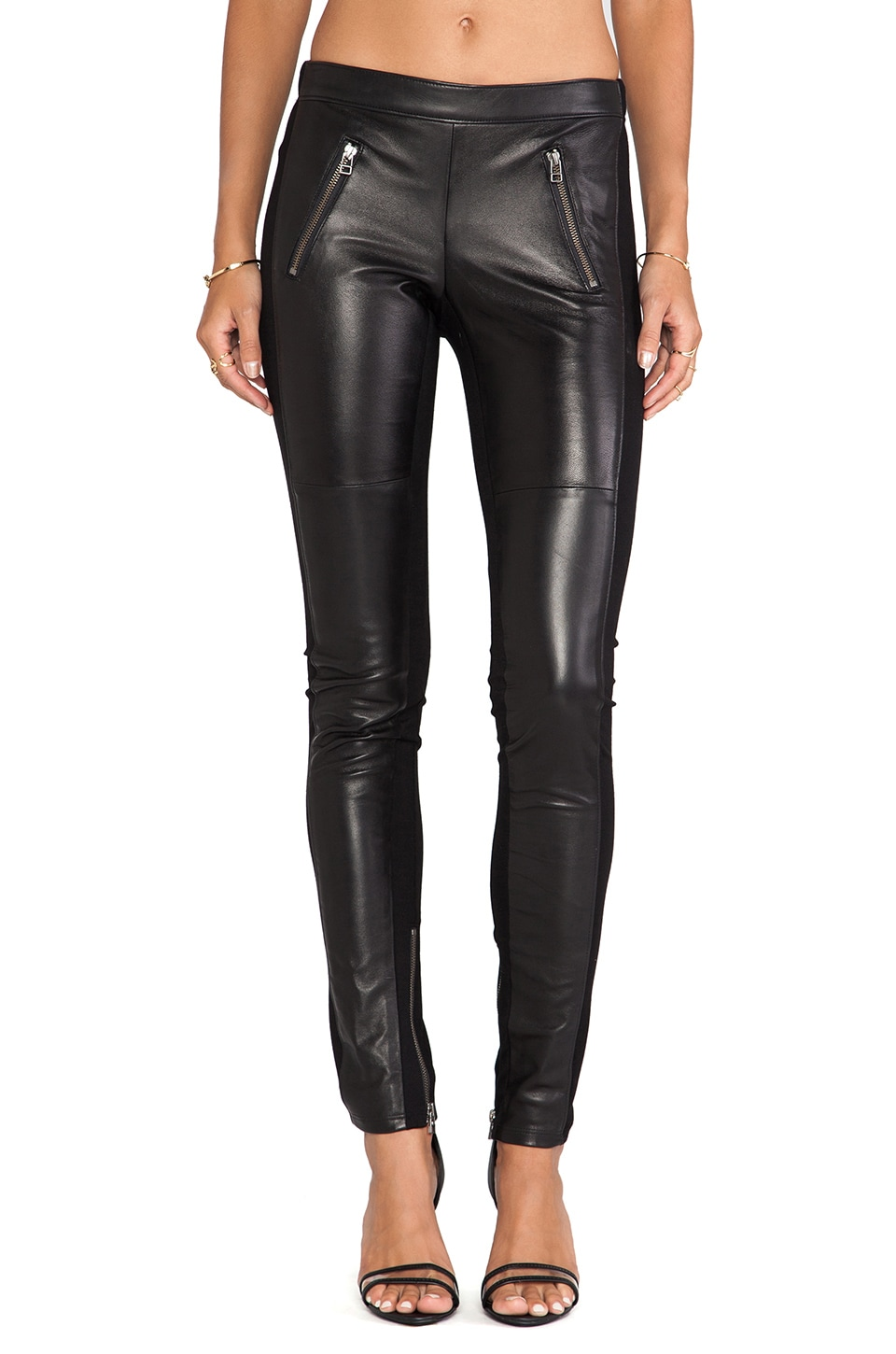 Graham & Spencer Ponti Leather Pants in Black