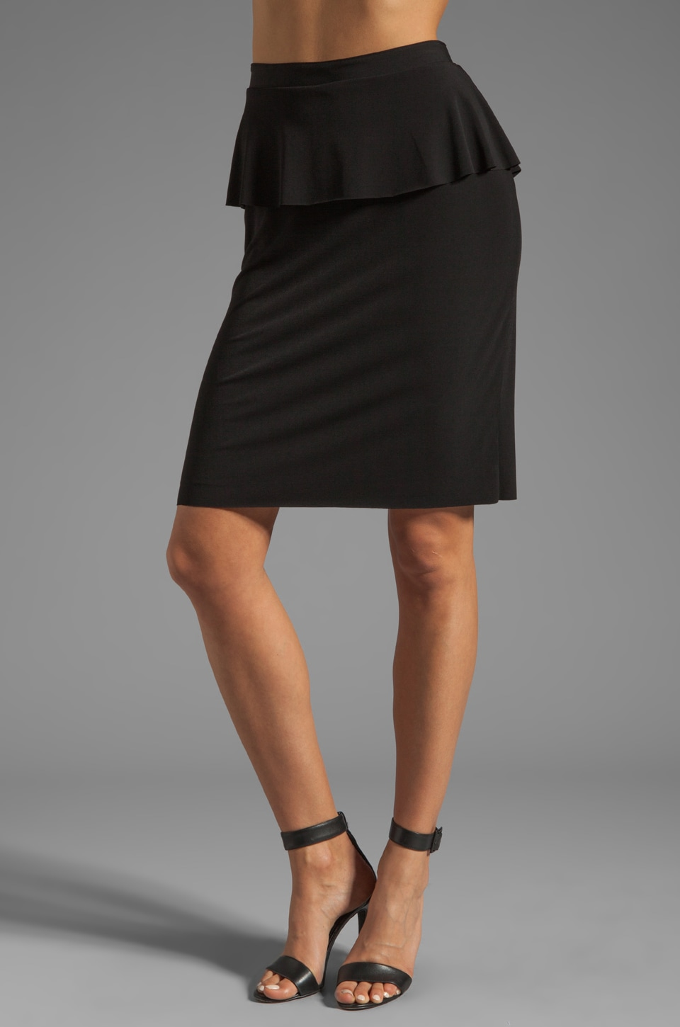 Graham & Spencer Stretch Jersey Skirt in Black