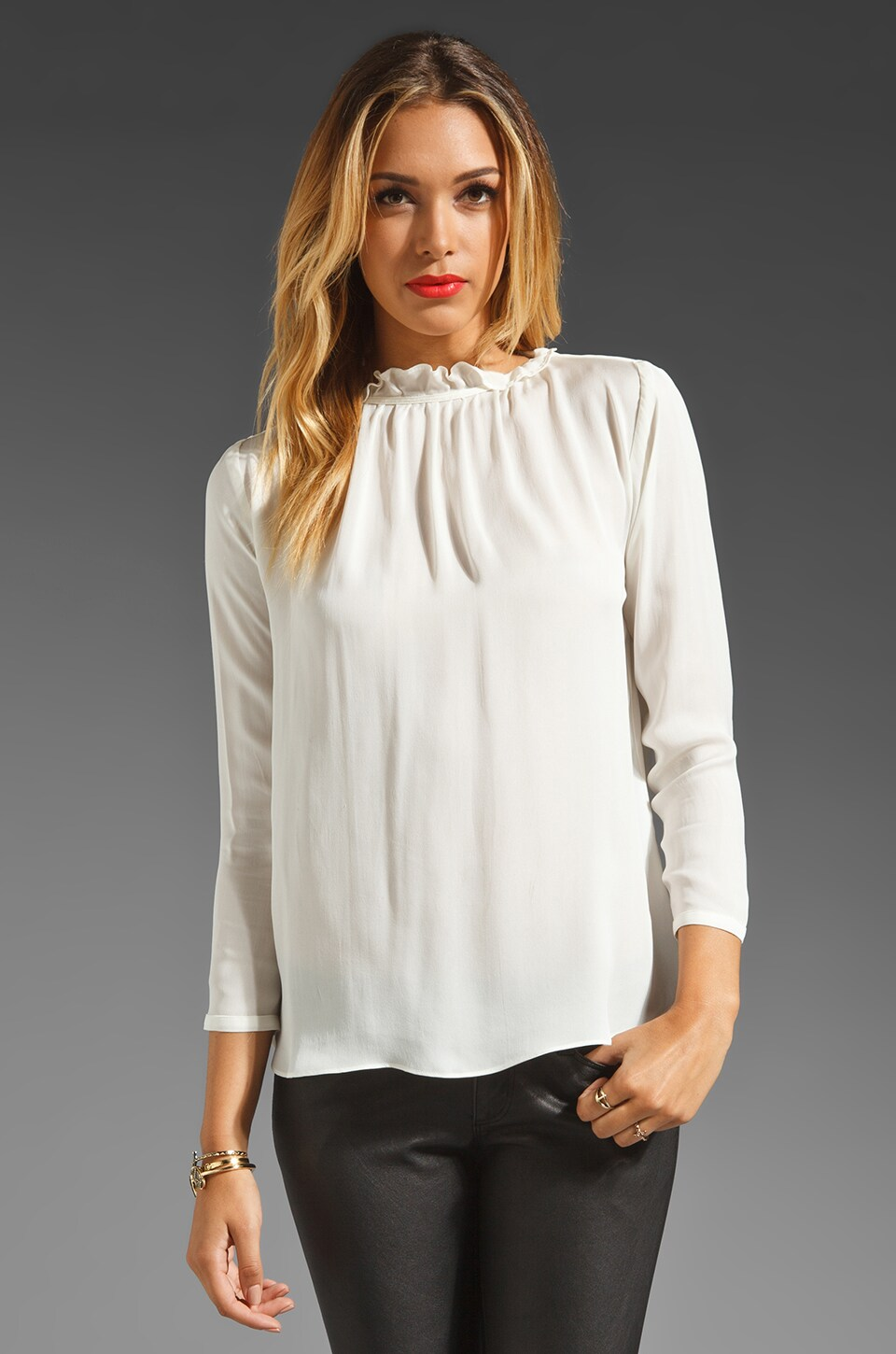 Graham & Spencer Vintage Georgette Top in Cream