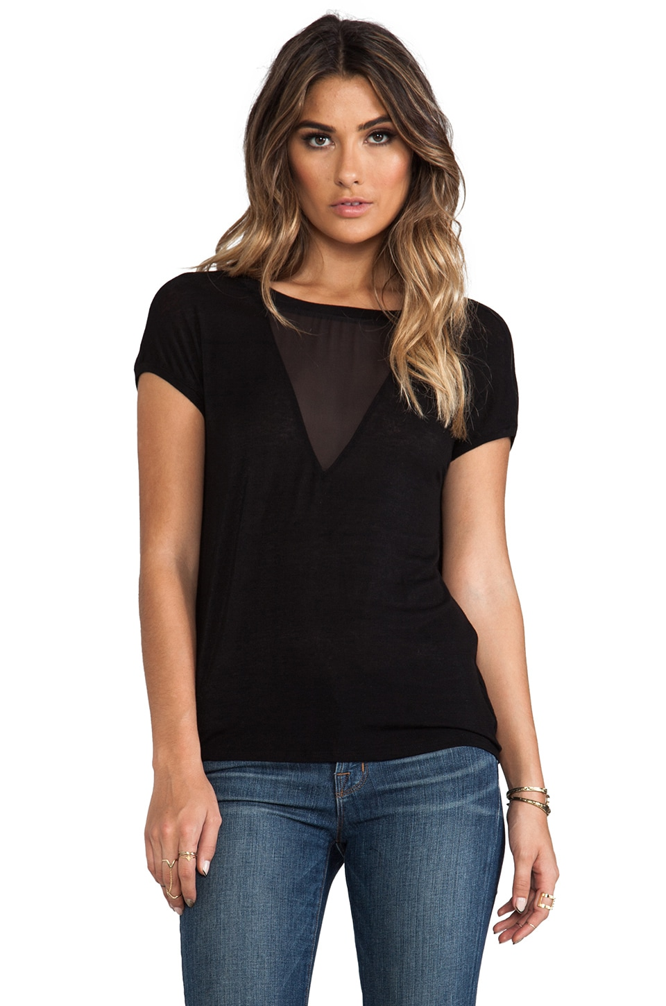 Graham & Spencer Autumn Gauze Tank in Black