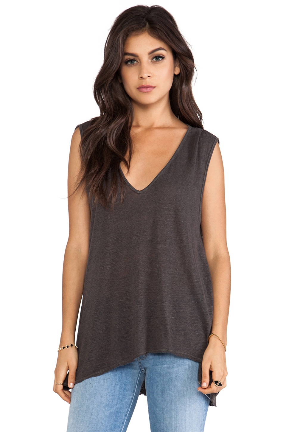 Graham & Spencer Linen Silk Knit Tank in Ground