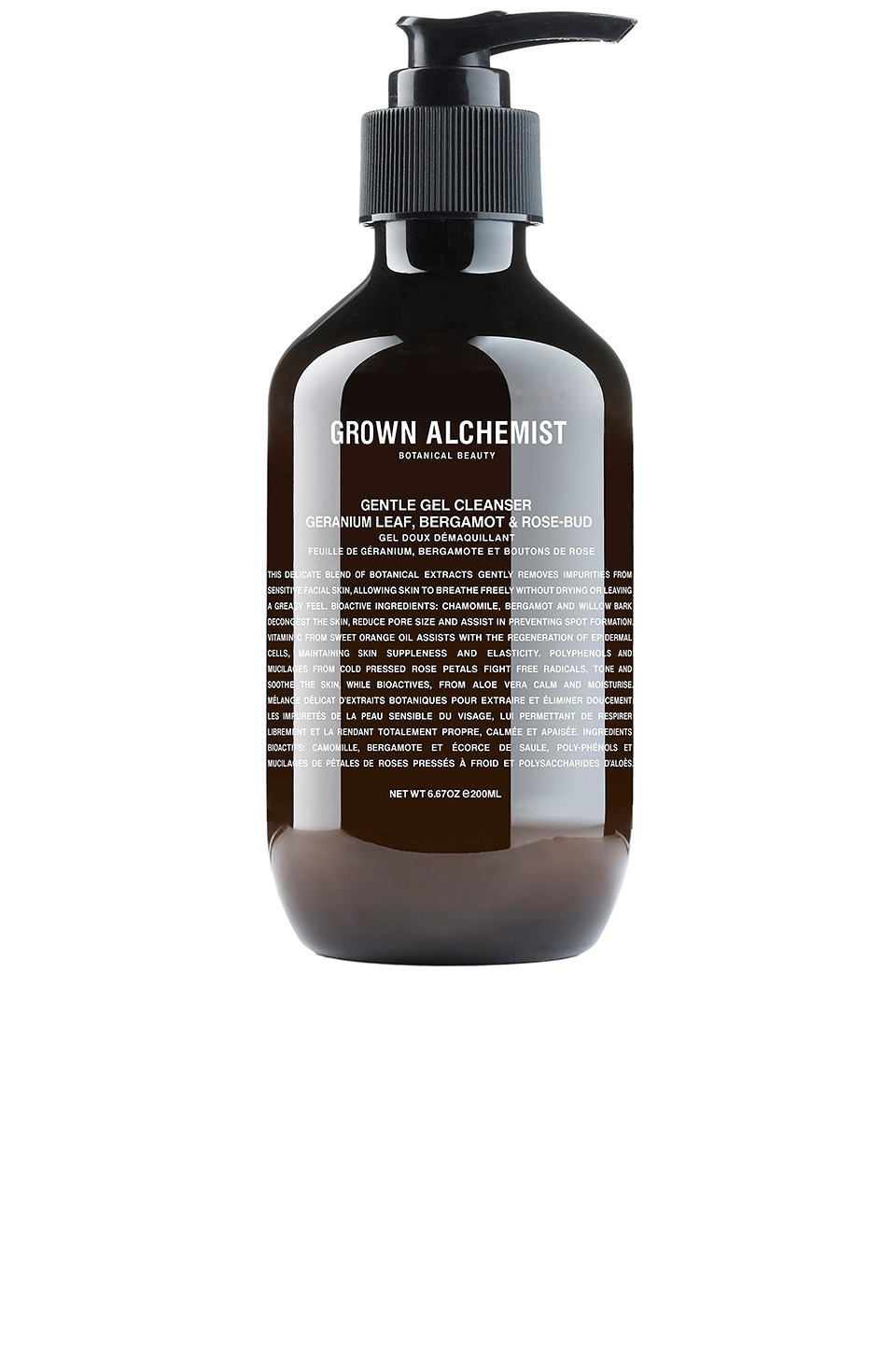 Grown Alchemist Gentle Gel Cleanser in Geranium & Bergamot & Rose Bud