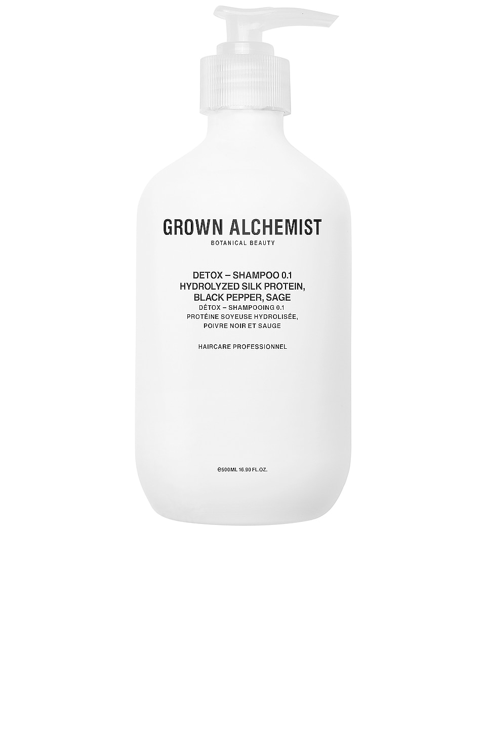 Grown Alchemist Detox Shampoo 0.1 in Hydrolyzed Silk Protein & Black Pepper & Sage
