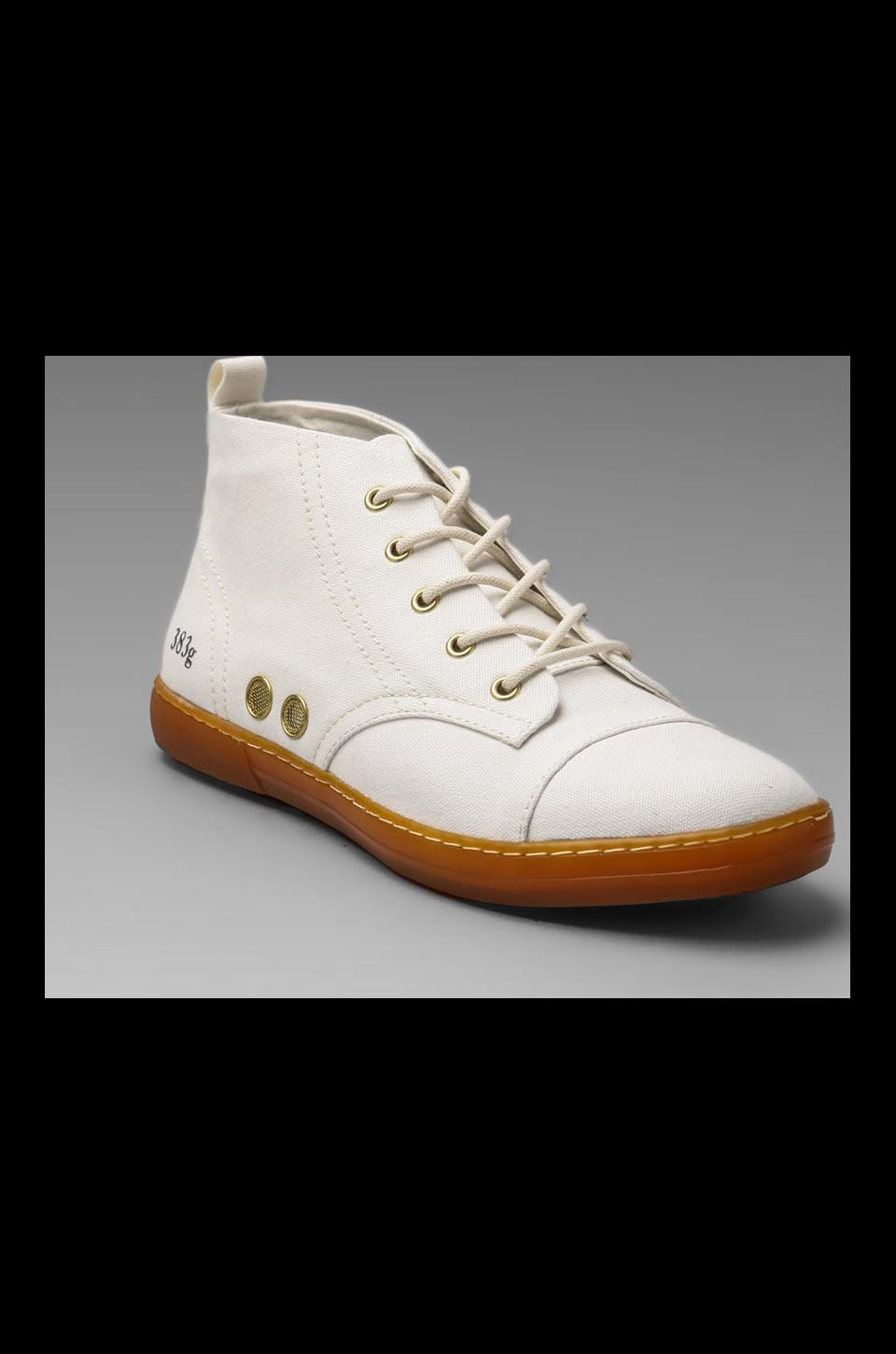 Gram 383G Cotton Canvas in White w/ Brown Gum Sole