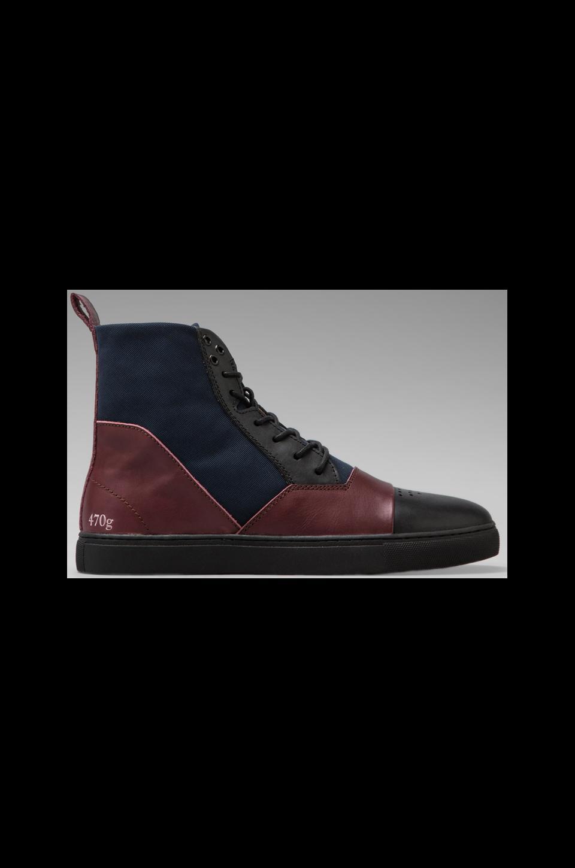Gram 470g Leather/ Nylon in Burgundy/Navy