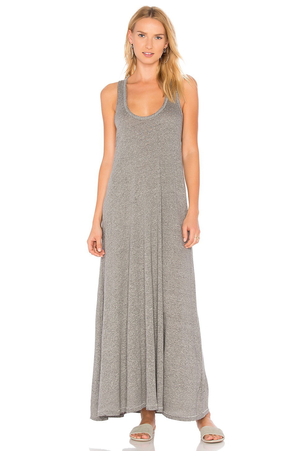 The Great The Swing Tank Maxi Dress in Heather Grey | REVOLVE