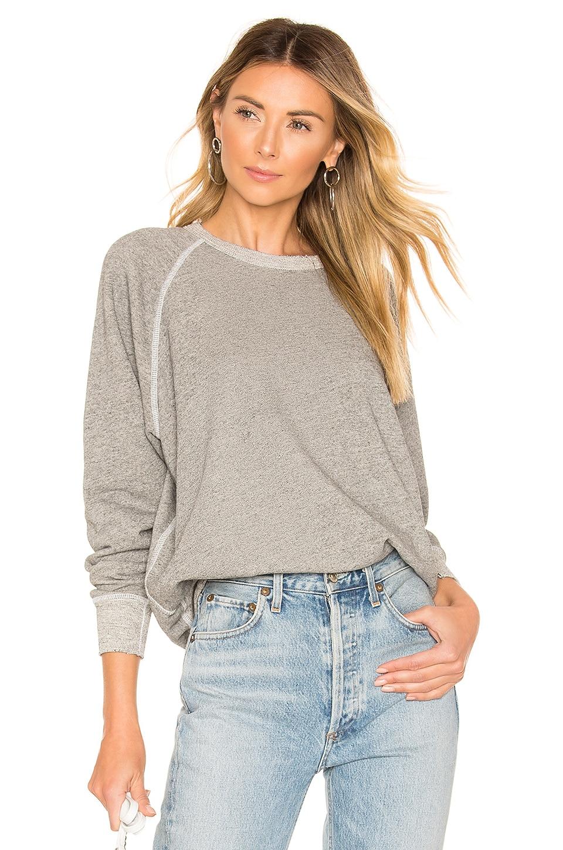 The Great The College Sweatshirt in Varsity Grey