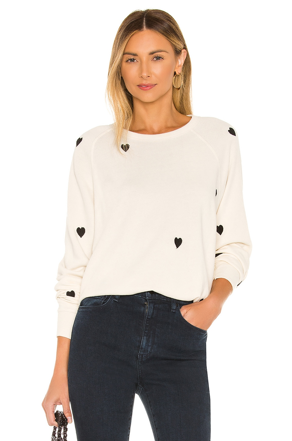 The Great The College Sweatshirt in Washed White