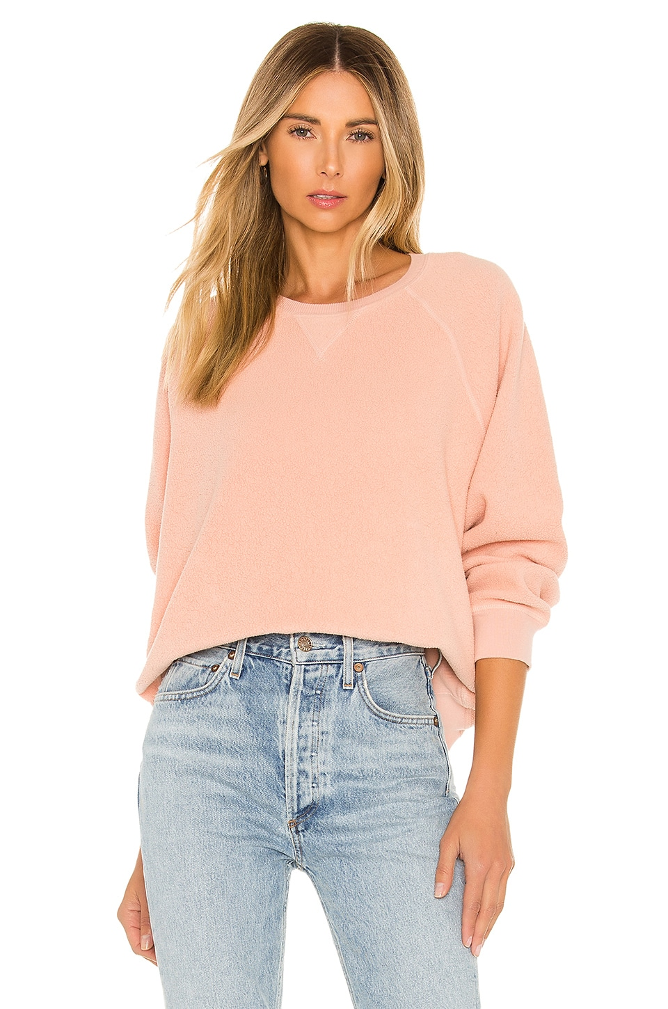The Great The Sherpa Slouch Sweatshirt in Cameo