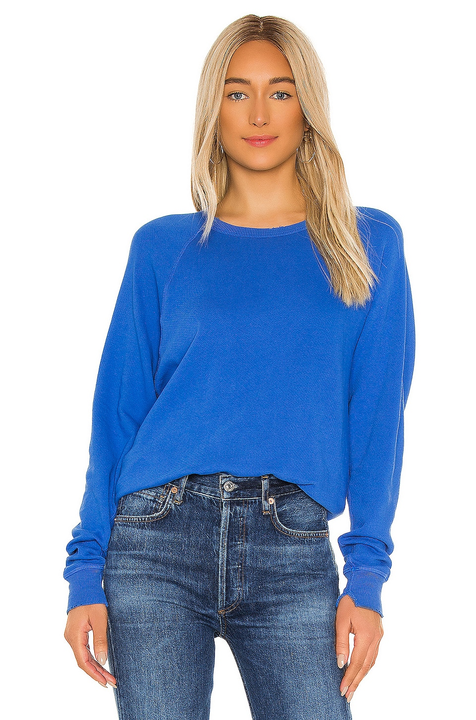 The Great The College Sweatshirt in Blue Yonder