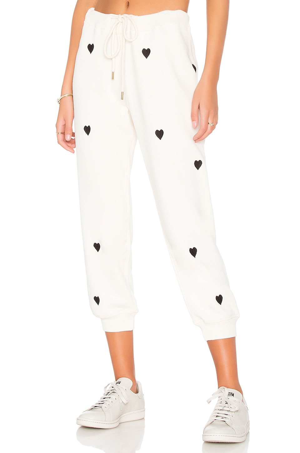 search for best sophisticated technologies best cheap The Great The Cropped Sweatpant in Washed White With Black ...