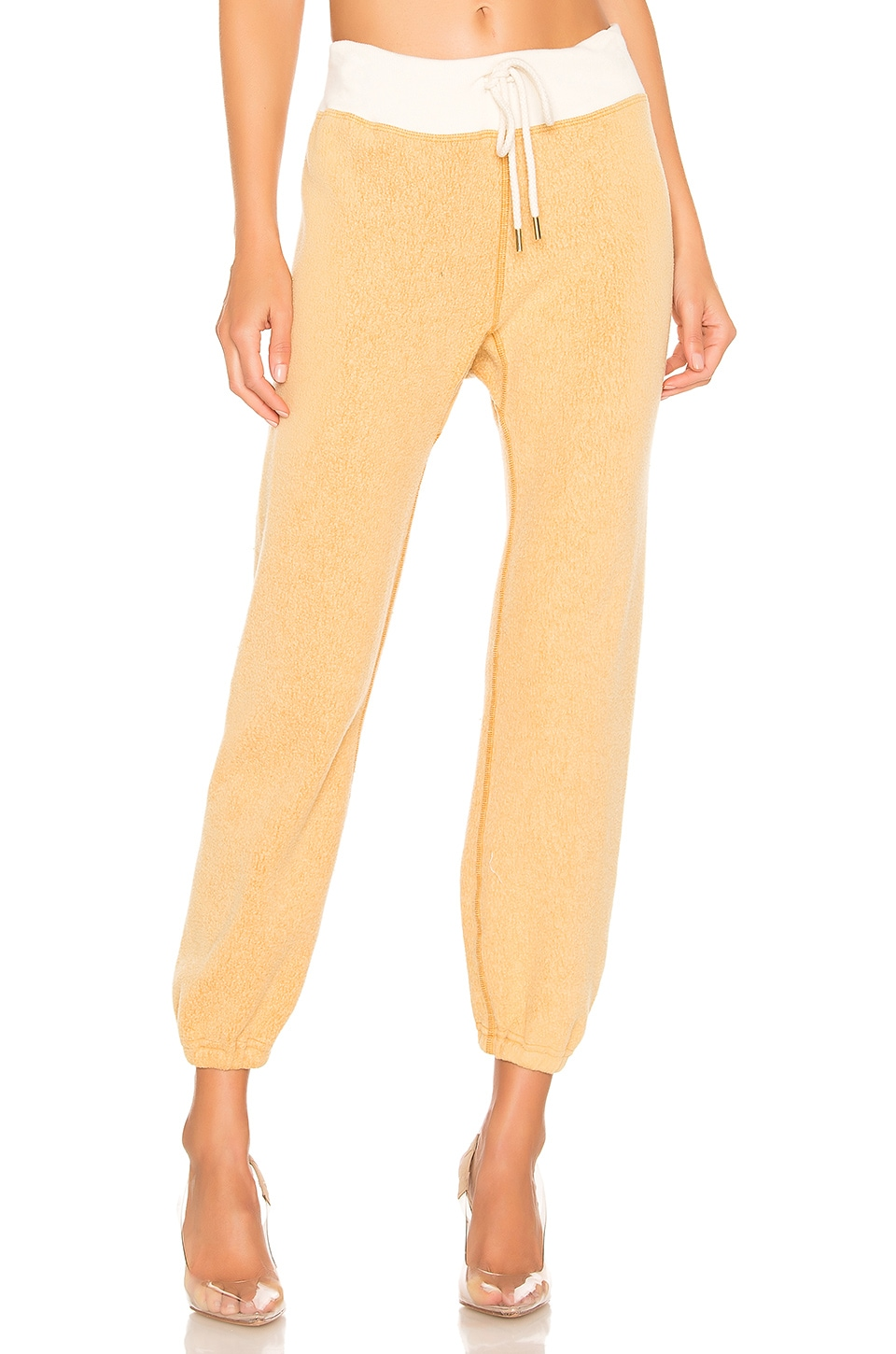 The Great The Warm Up Sweatpant in Goldenrod & Cream