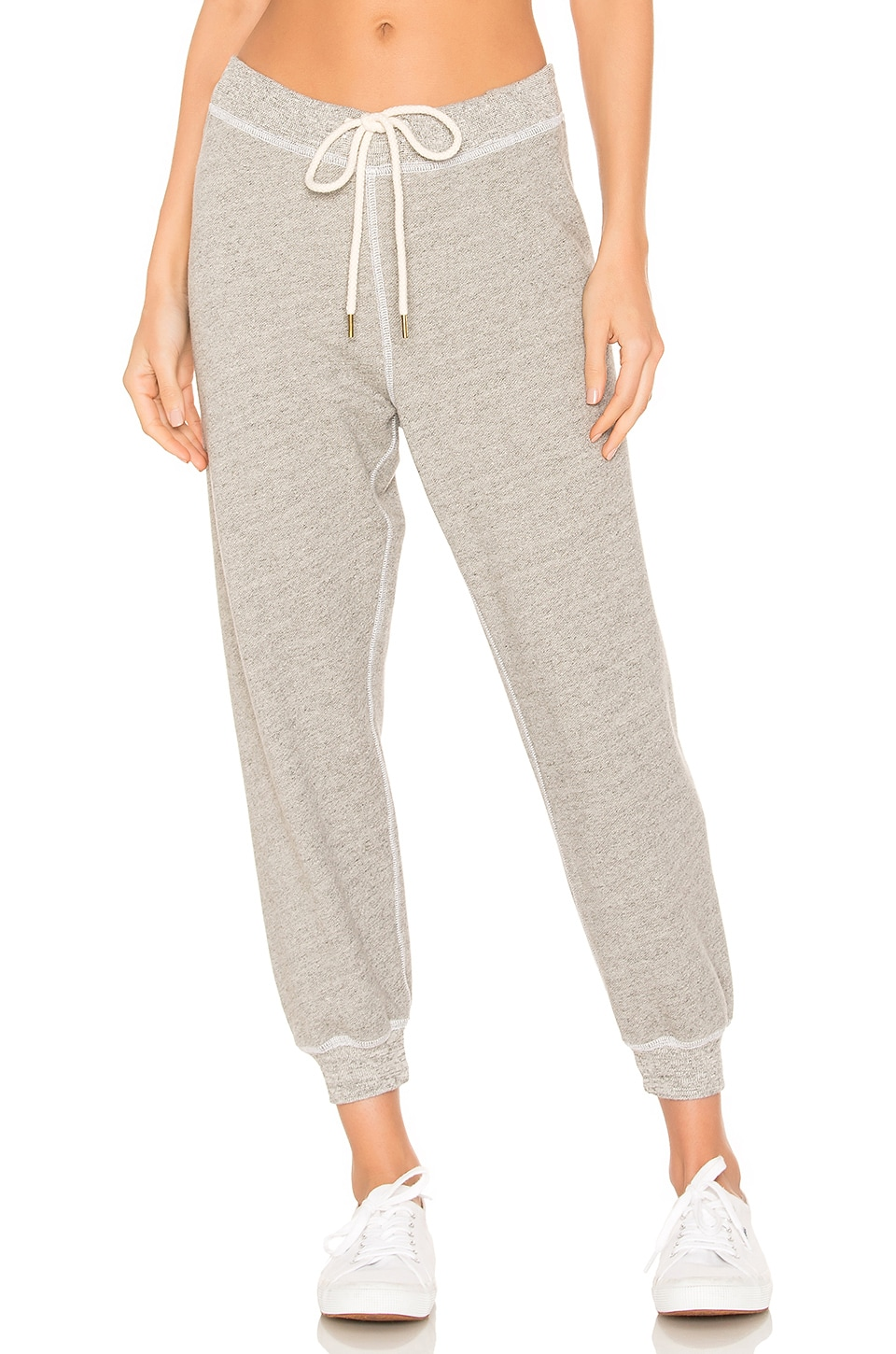 The Great The Cropped Sweatpant in Varsity Grey