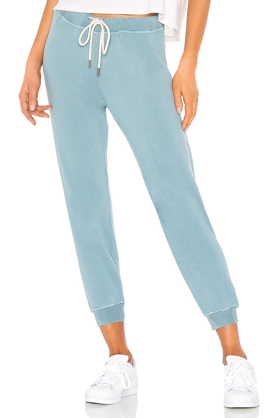 The Great The Cropped Sweatpant in Turquoise