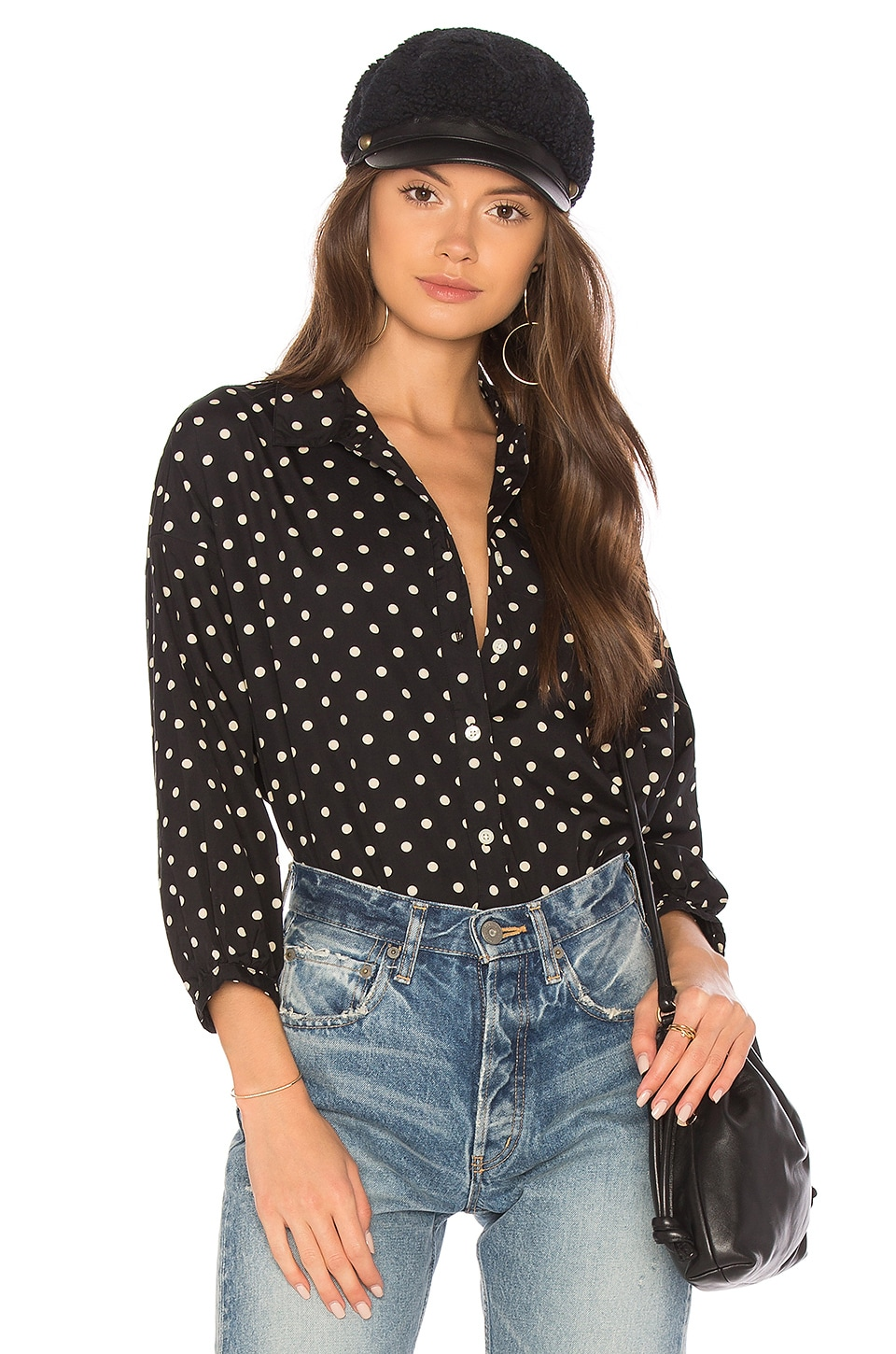 The Great The Easy Button Up in Pillbox Polka Dot