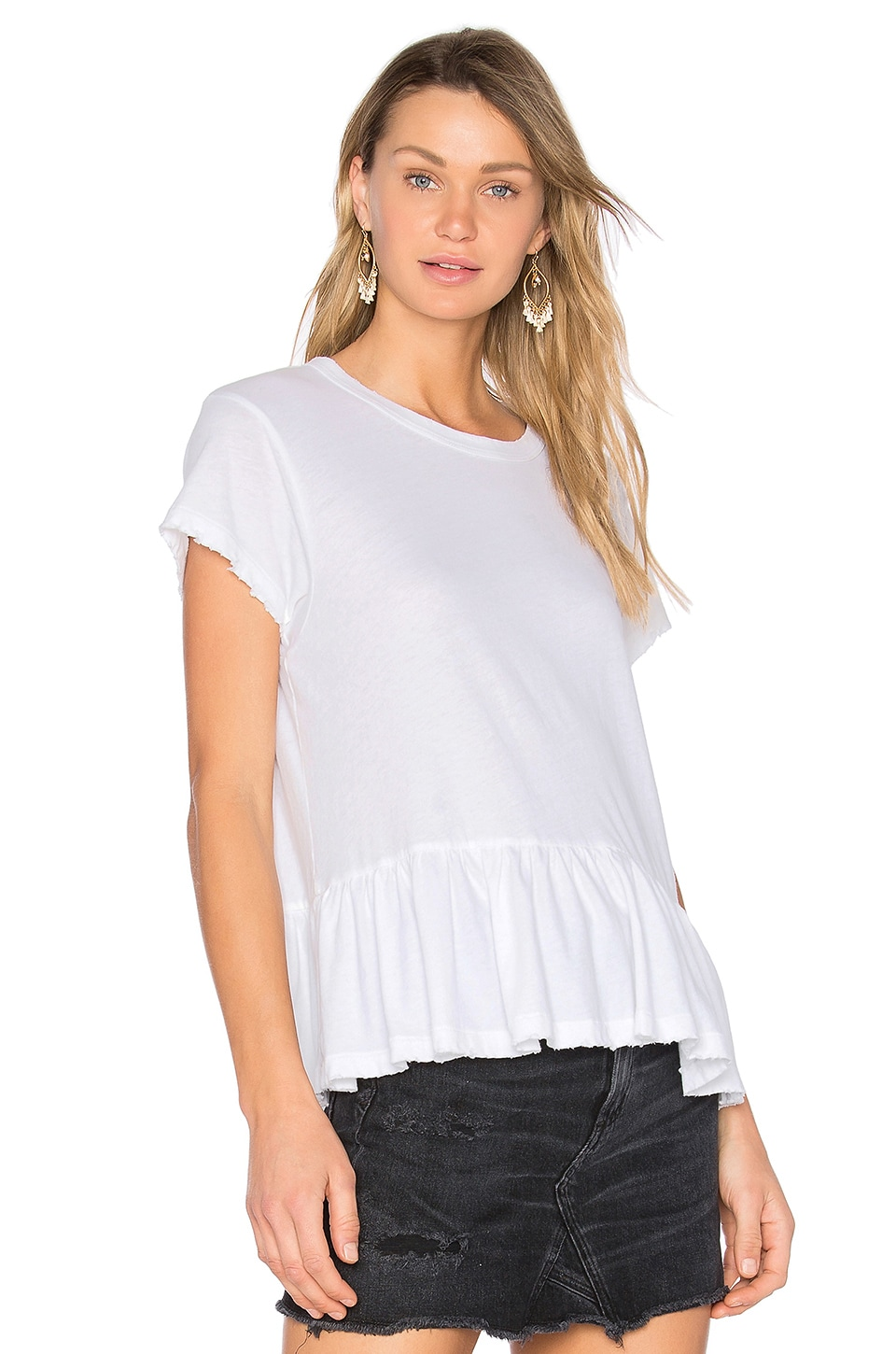 The Great The Ruffle Tee in True White
