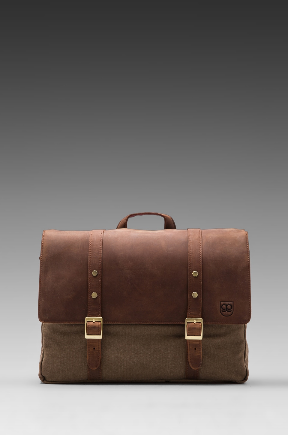 Griffin Assembly Messenger in Coffee/ Red