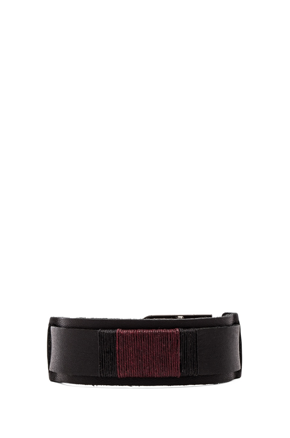 griffin Colton Slim Cuff in Burgundy & Black