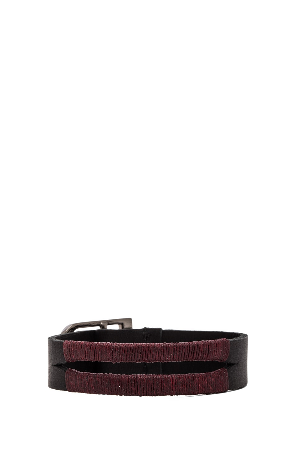 Griffin Colton Split Cuff in Burgundy