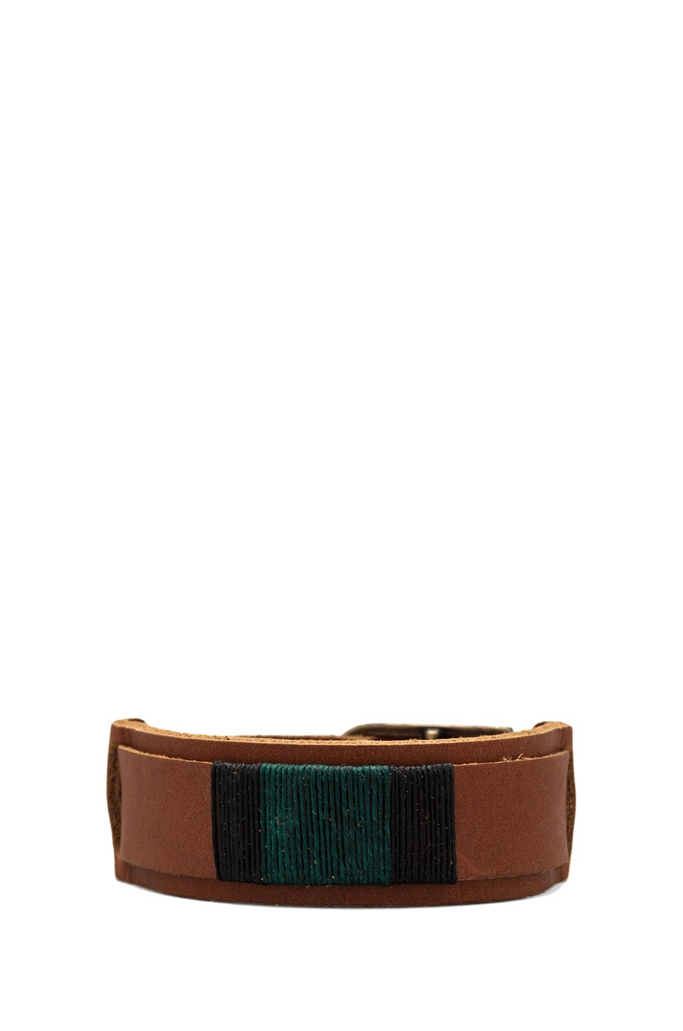 griffin Colton Slim Cuff in Light Brown/Forest