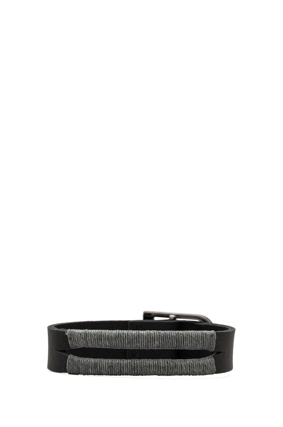 griffin Colton Split Cuff in Black/ Grey