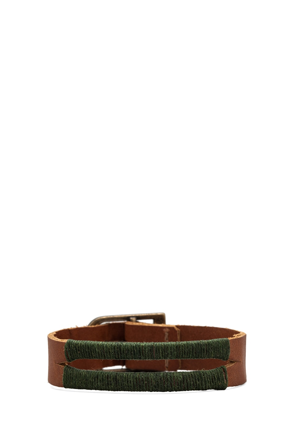 Griffin Colton Split Cuff in Light Brown/Forest