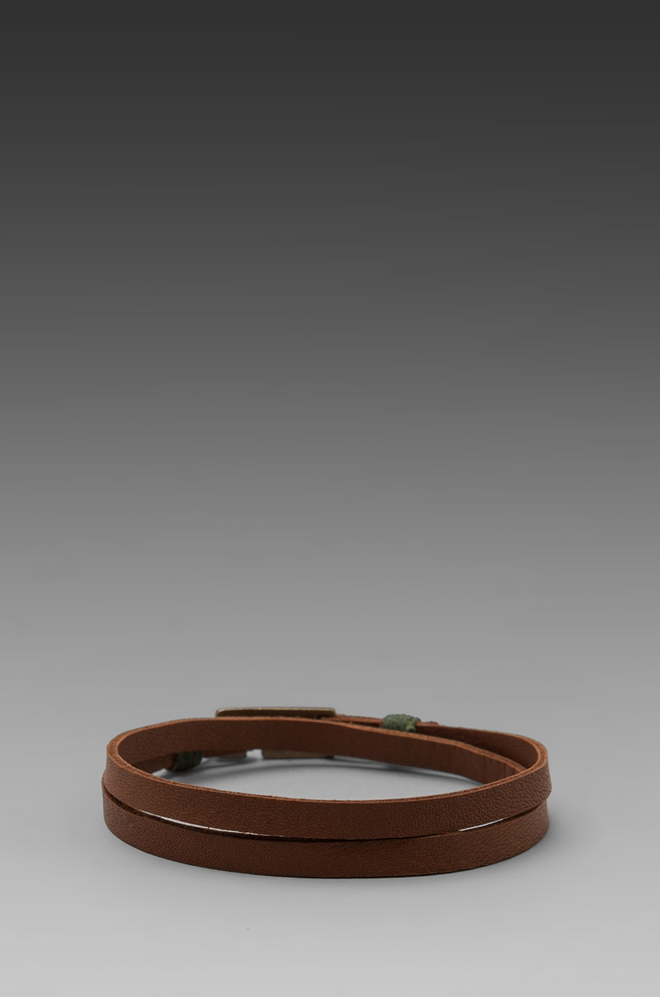 griffin Legend Leather Double Wrap Bracelet in Tan