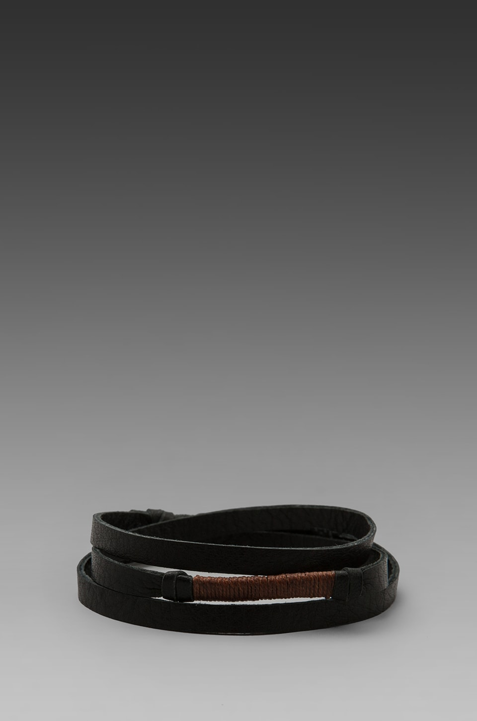 griffin Legend Leather Triple Wrap Bracelet in Black