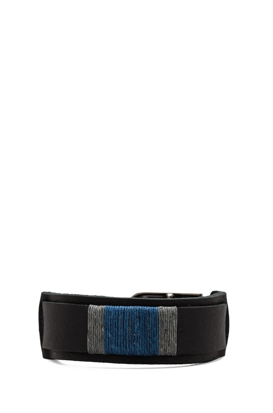 griffin Colton Slim Cuff in Black/Blue