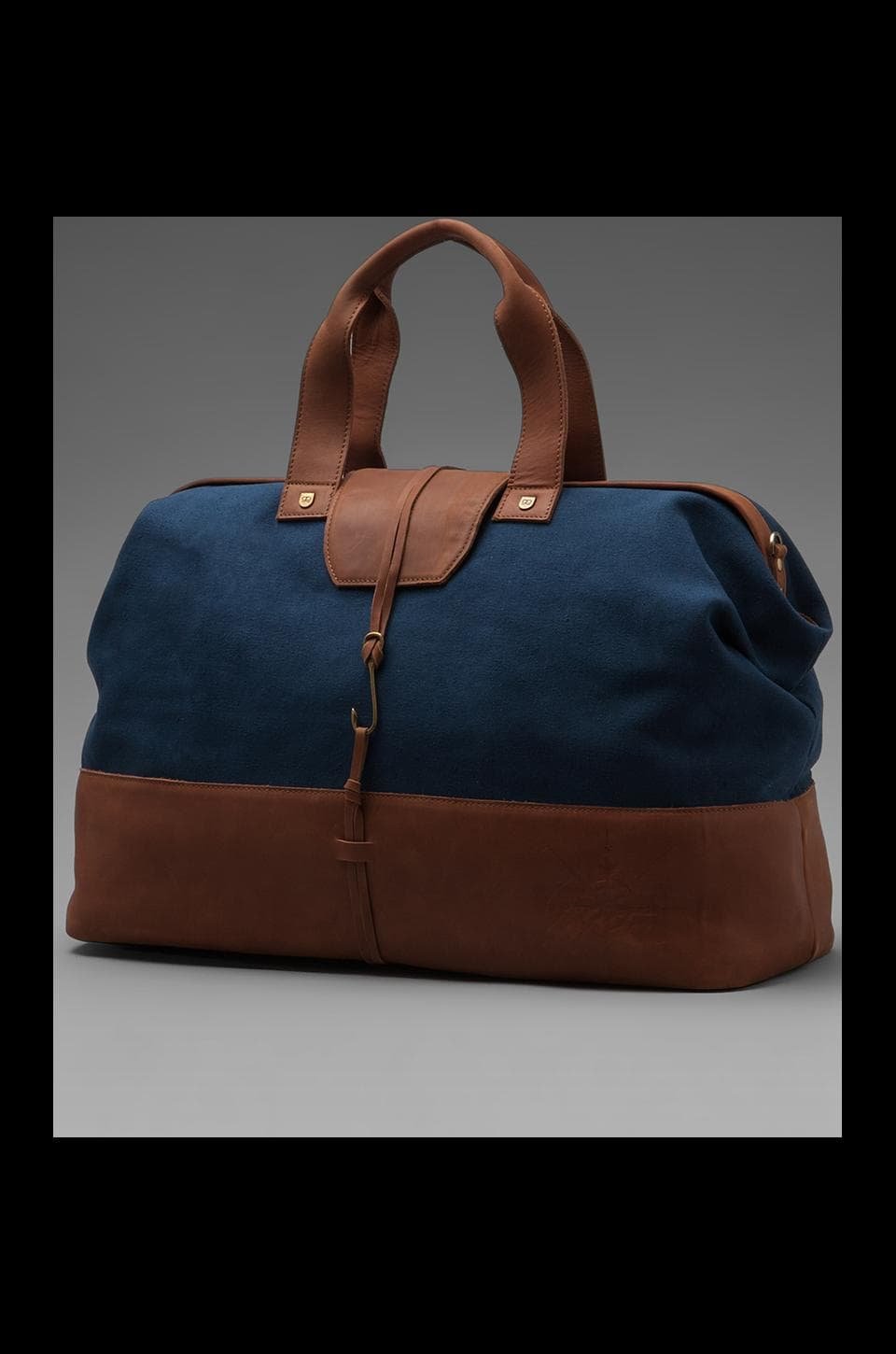 Griffin Anderson Boat Bag in Navy/ Cognac