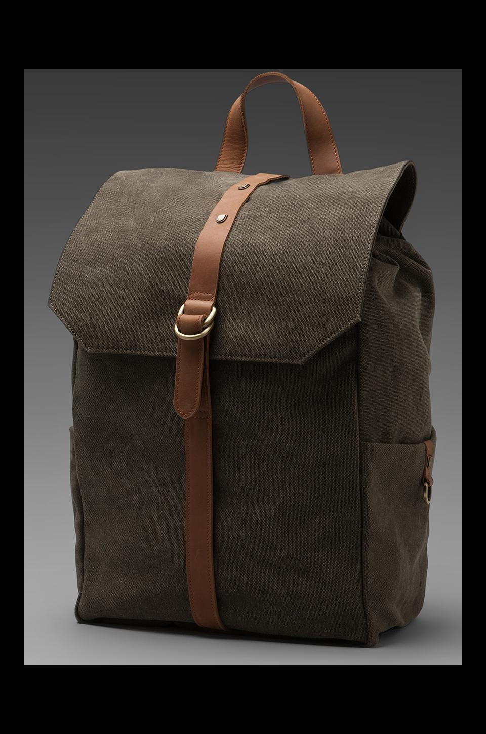 Griffin Walker Backpack in Army/ Camel