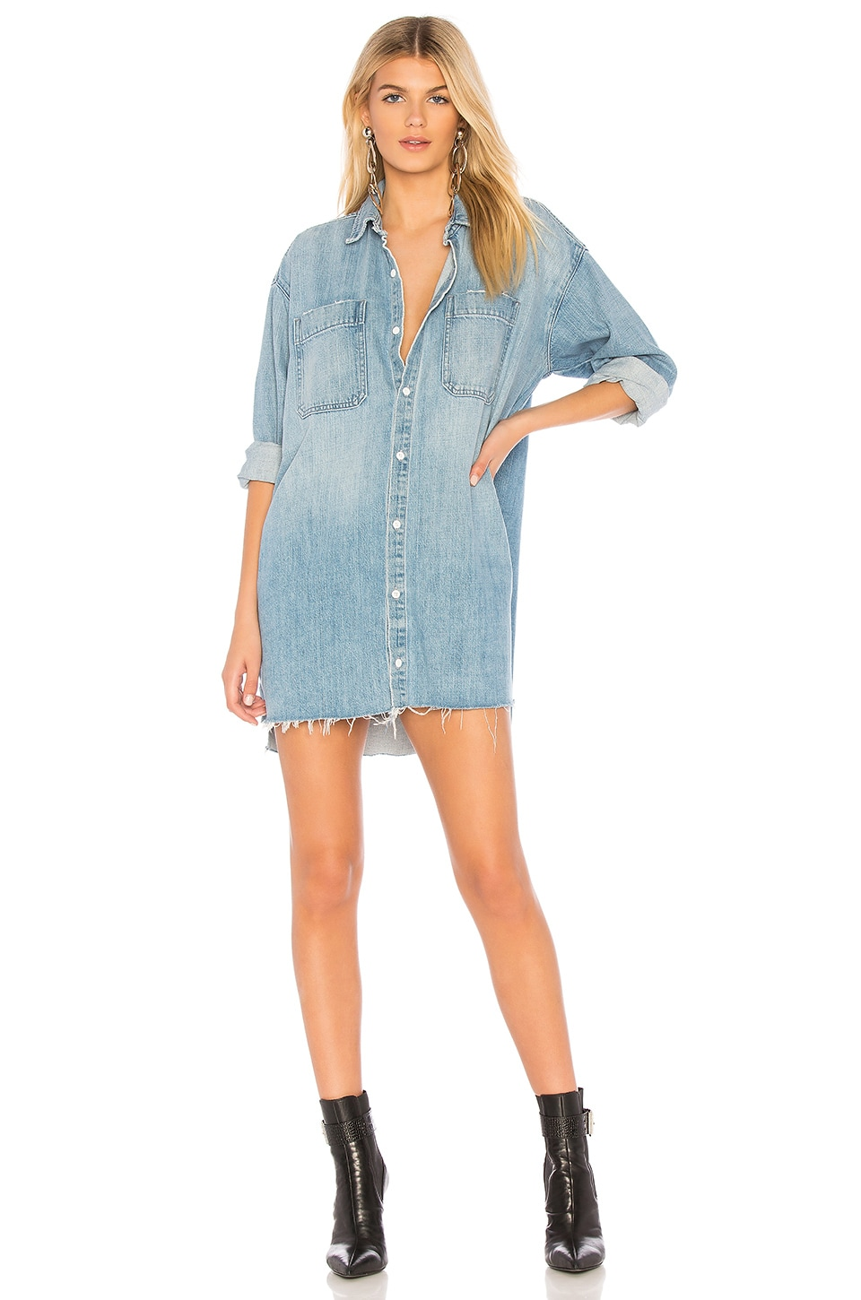 GRLFRND Shaun Oversized Shirt Dress in Tangeled Up