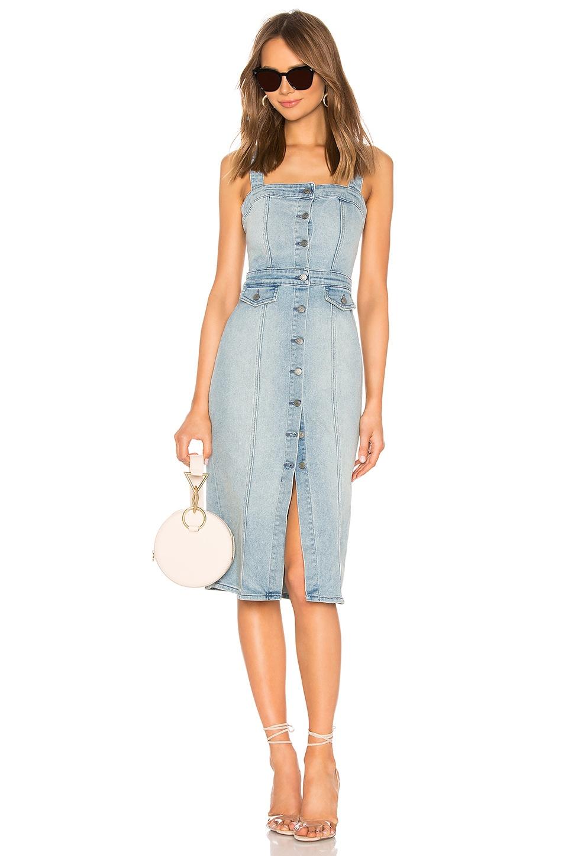 GRLFRND Petra Slim Midi Dress in All Or Nothing