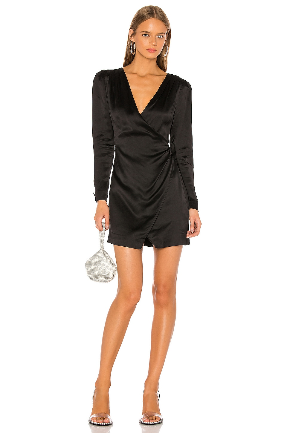 GRLFRND Nik Shirt Dress in Black