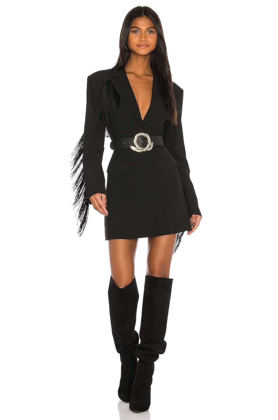 GRLFRND Zoe Suit Dress in Black