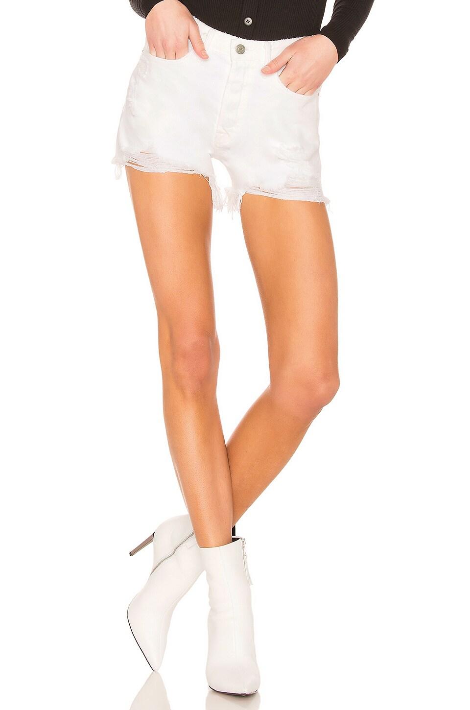 GRLFRND Helena Cut Off Straight Leg Shorts in Pierre