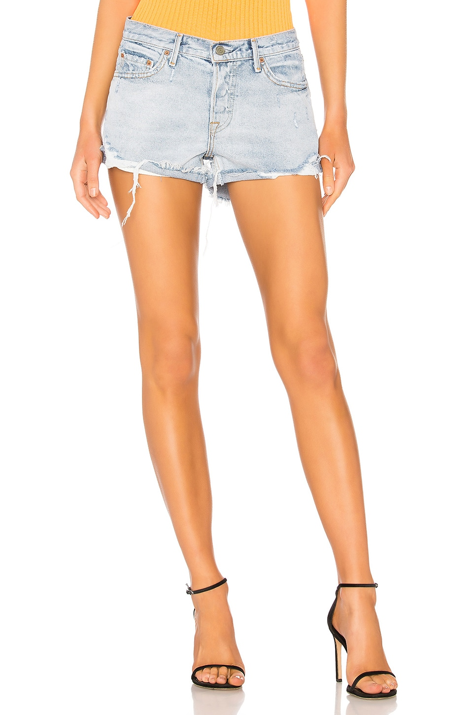 GRLFRND Adriana Mid-Rise Slouchy Short in Overdone