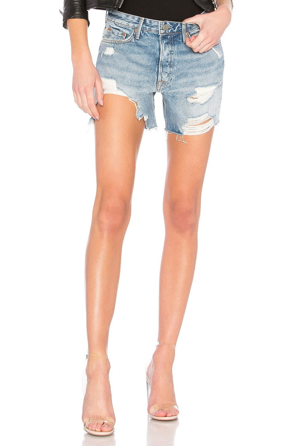 GRLFRND Jourdan Tomboy Shorts in Tattered